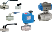 Ball valves with actuator, brass