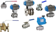 Ball valves with actuator, steel